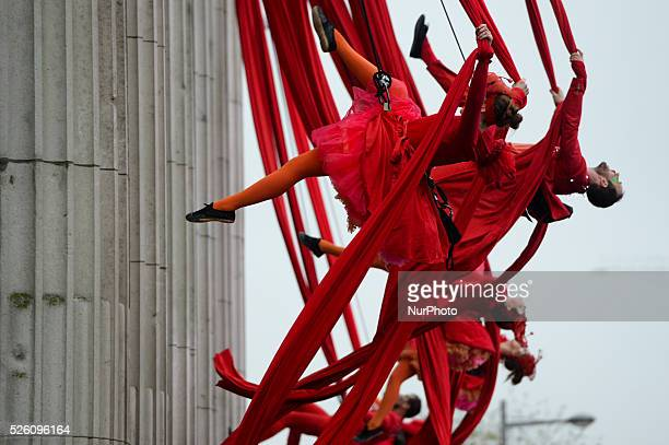 Dublin City Council surprise Christmas shoppers with Flying Elves on O'Connell Street a show run by Fidget Feet aerial dance company that wows...