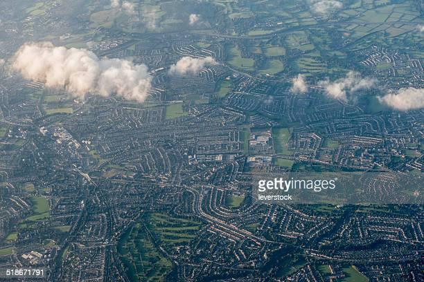 Dublin city from the air