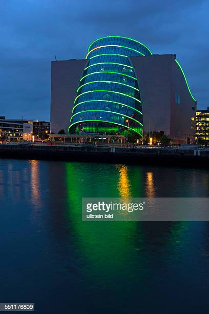 Dublin Convention center illuminated at night Dublin Republic of Ireland Europe