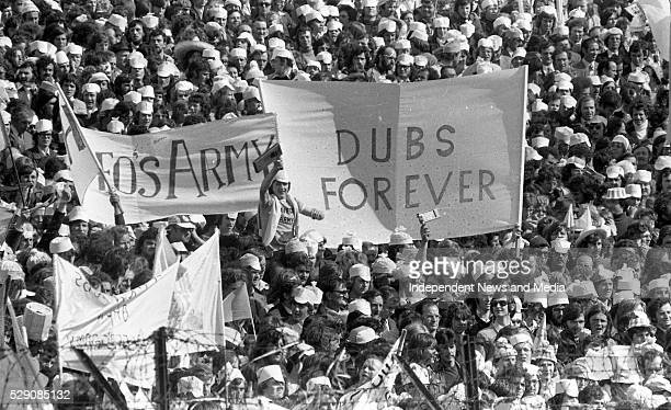 Dublin fans during the Dublin v Galway in the All-Ireland Football Final at Croke Park, ...