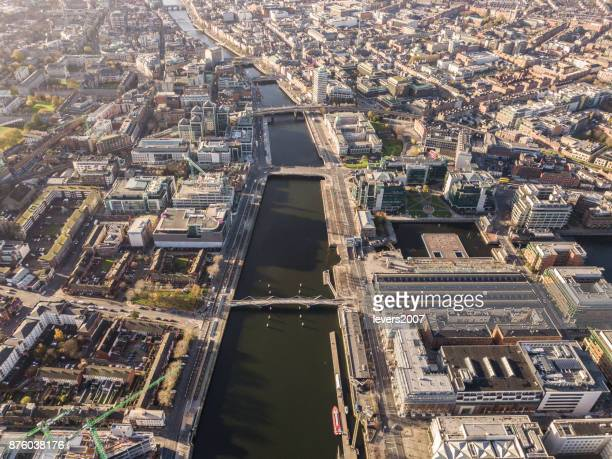 dublin from above - dublin stock pictures, royalty-free photos & images