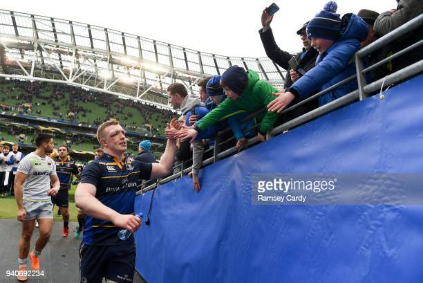 Dublin Ireland 1 April 2018 Dan Leavy of Leinster following the European Rugby Champions Cup quarterfinal match between Leinster and Saracens at the...