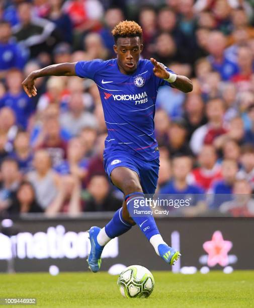 Dublin Ireland 1 August 2018 Callum HudsonOdoi of Chelsea during the International Champions Cup match between Arsenal and Chelsea at the Aviva...