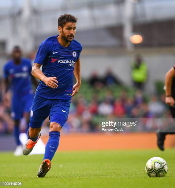 Dublin Ireland 1 August 2018 Cesc Fabregas of Chelsea during the International Champions Cup match between Arsenal and Chelsea at the Aviva Stadium...