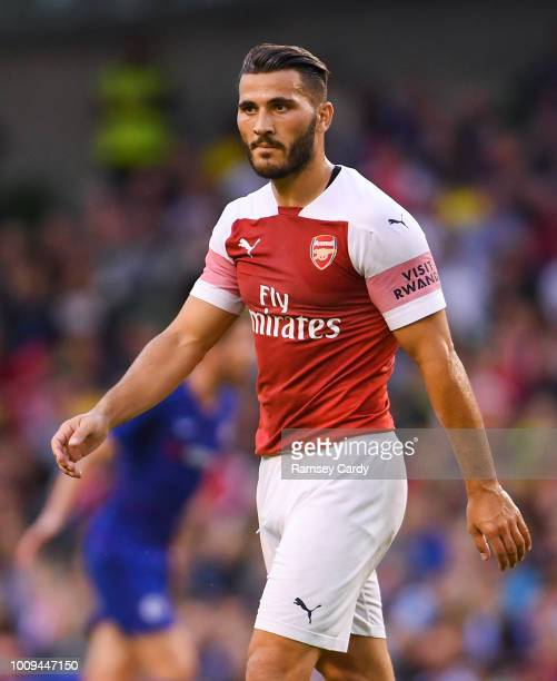 Dublin Ireland 1 August 2018 Sead Kolainac of Arsenal during the International Champions Cup match between Arsenal and Chelsea at the Aviva Stadium...