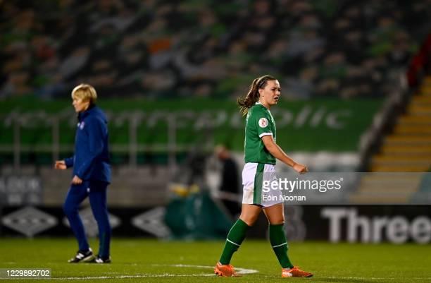 Dublin , Ireland - 1 December 2020; Katie McCabe of Republic of Ireland following the UEFA Women's EURO 2022 Qualifier match between Republic of...