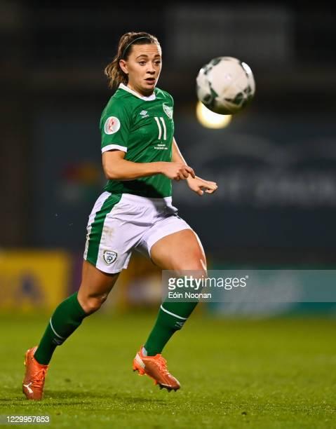 Dublin , Ireland - 1 December 2020; Katie McCabe of Republic of Ireland during the UEFA Women's EURO 2022 Qualifier match between Republic of Ireland...