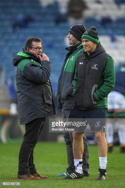 Dublin Ireland 1 January 2018 Connacht head coach Kieran Keane left with Johnny O'Connor the Connacht strength and conditioning coach prior to the...