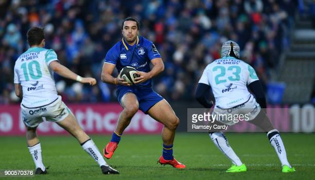 Dublin Ireland 1 January 2018 James Lowe of Leinster during the Guinness PRO14 Round 12 match between Leinster and Connacht at the RDS Arena in Dublin