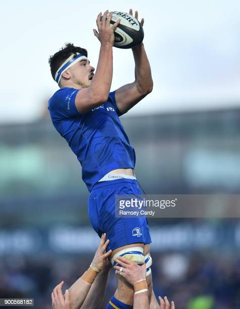 Dublin Ireland 1 January 2018 Max Deegan of Leinster during the Guinness PRO14 Round 12 match between Leinster and Connacht at the RDS Arena in Dublin