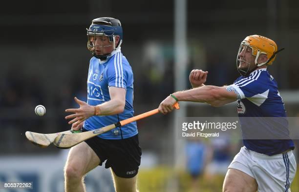Dublin Ireland 1 July 2017 Cian O'Sullivan of Dublin in action against Cahir Healy of Laois during the GAA Hurling AllIreland Senior Championship...