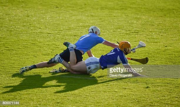 Dublin Ireland 1 July 2017 Shane Barrett of Dublin in action against Cahir Healy of Laois during the GAA Hurling AllIreland Senior Championship Round...
