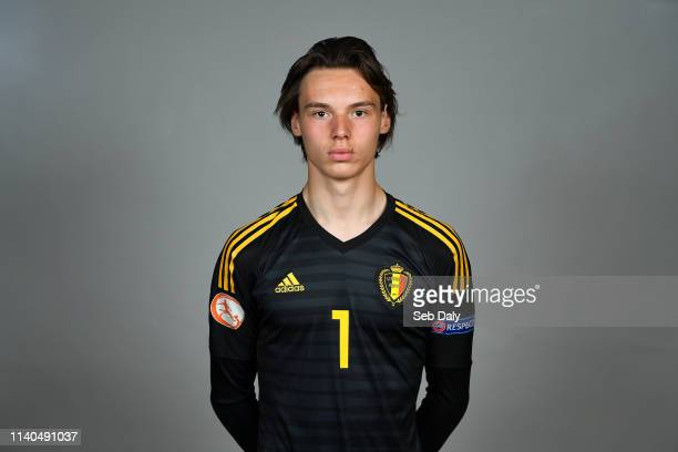 Dublin Ireland 1 May 2019 Maarten Vandevoordt of Belgium during a UEFA U17 European Championship Finals portrait session at CityWest Hotel in Saggart...