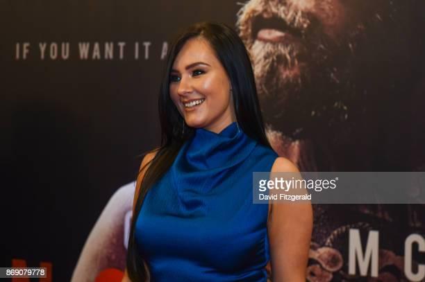 Dublin Ireland 1 November 2017 Dee Devlin Conor McGregor's partner arrives at the Conor McGregor Notorious film premiere at the Savoy Cinema in Dublin