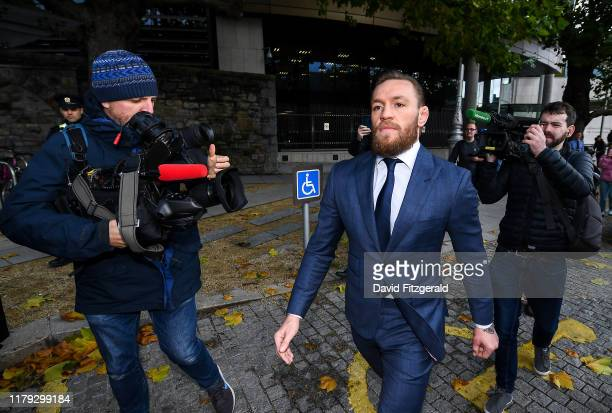 Dublin Ireland 1 November 2019 Conor McGregor leaves The Criminal Courts of Justice in Dublin