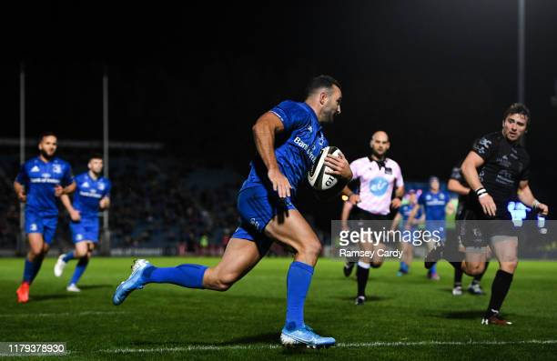 Dublin , Ireland - 1 November 2019; Dave Kearney of Leinster runs in for his side's second try during the Guinness PRO14 Round 5 match between...