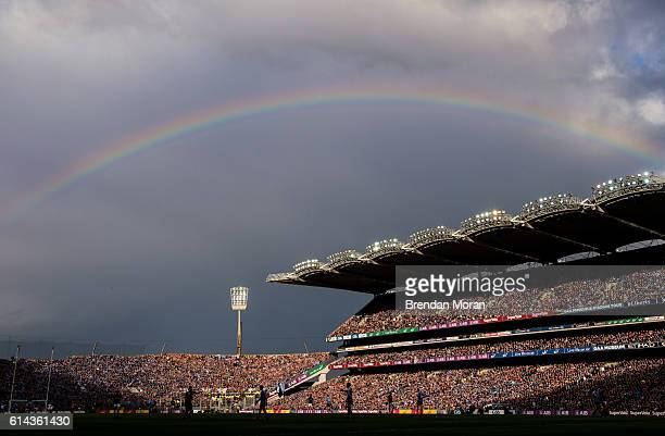 Dublin Ireland 1 October 2016 A rainbow forms over Hill 16 and the Cusack Stand during the GAA Football AllIreland Senior Championship Final Replay...