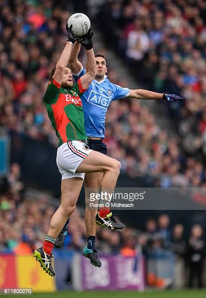 Dublin Ireland 1 October 2016 James McCarthy of Dublin in action against Patrick Durcan of Mayo during the GAA Football AllIreland Senior...