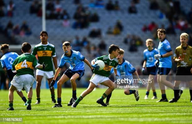 Dublin Ireland 1 September 2019 Seaghan McCormaick Scoil Tabhóg An Chlochán Leifir Dún na nGall representing Kerry and Fionn Kavanagh Castletown NS...