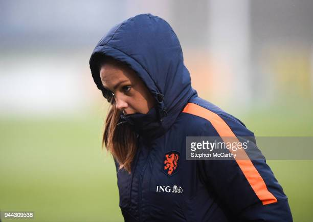 Dublin Ireland 10 April 2018 Lieke Martens of Netherlands prior to the 2019 FIFA Women's World Cup Qualifier match between Republic of Ireland and...