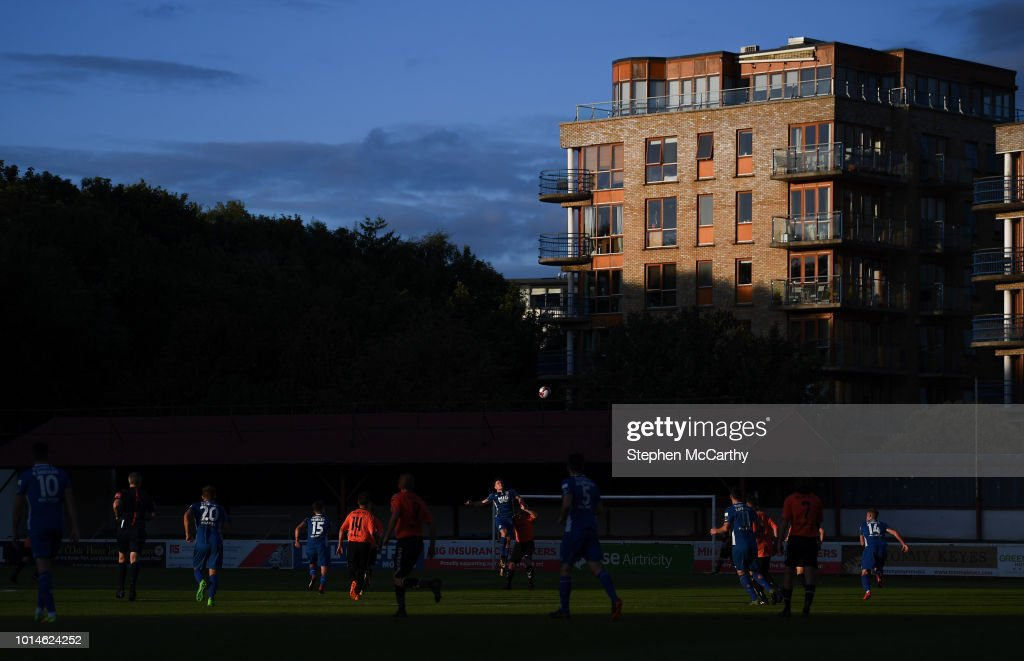 Dublin , Ireland - 10 August 2018; A general view of the action during the Irish Daily Mail FAI Cup First Round match between Inchicore Athletic and St Patrick's Athletic at Richmond Park in Inchicore, Dublin.
