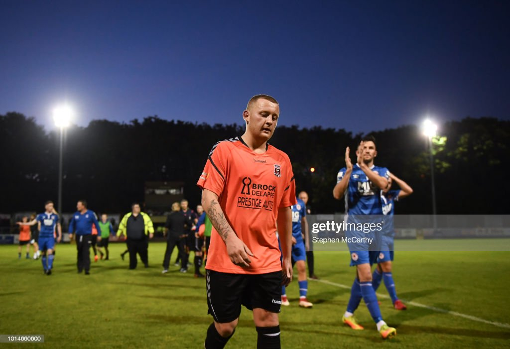 Dublin , Ireland - 10 August 2018; Sean Plunkett of Inchicore Athletic following the Irish Daily Mail FAI Cup First Round match between Inchicore Athletic and St Patrick's Athletic at Richmond Park in Inchicore, Dublin.