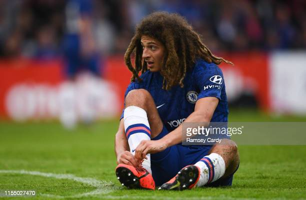 Dublin Ireland 10 July 2019 Ethan Ampadu of Chelsea during a friendly match between Bohemians and Chelsea at Dalymount Park in Dublin