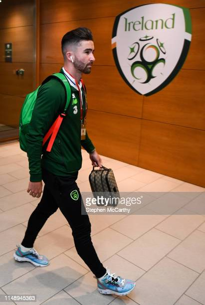 Dublin Ireland 10 June 2019 Sean Maguire of Republic of Ireland arrives prior to the UEFA EURO2020 Qualifier Group D match between Republic of...