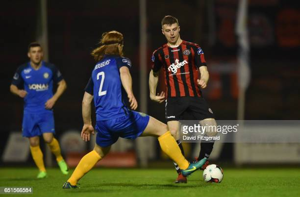 Dublin Ireland 10 March 2017 Jamie Doyle of Bohemians in action against Hugh Douglas of Bray Wanderers during the SSE Airtricity League Premier...