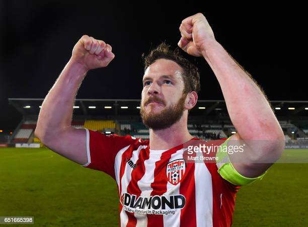 Dublin , Ireland - 10 March 2017; Ryan McBride of Derry City after the SSE Airtricity League Premier Division match between Shamrock Rovers and Derry...