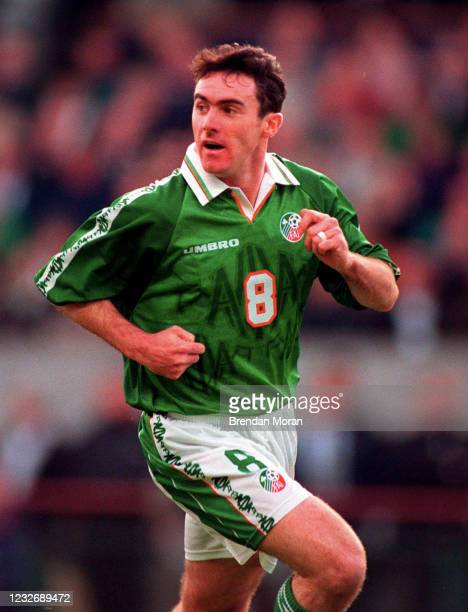 Dublin , Ireland - 10 November 1996; Alan McLoughlin of Republic of Ireland during the FIFA World Cup 1998 Group 8 Qualifying match between Republic...