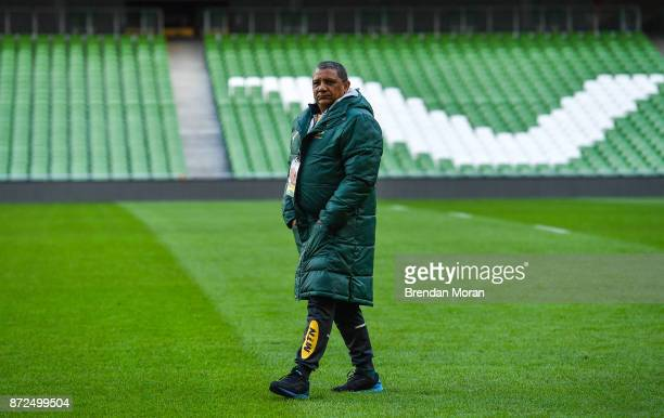 Dublin Ireland 10 November 2017 Sead coach Allister Coetzee during South Africa rugby captain's run at Aviva Stadium in Dublin