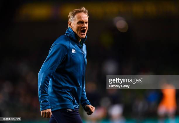 Dublin Ireland 10 November 2018 Ireland head coach Joe Schmidt prior to the Guinness Series International match between Ireland and Argentina at the...