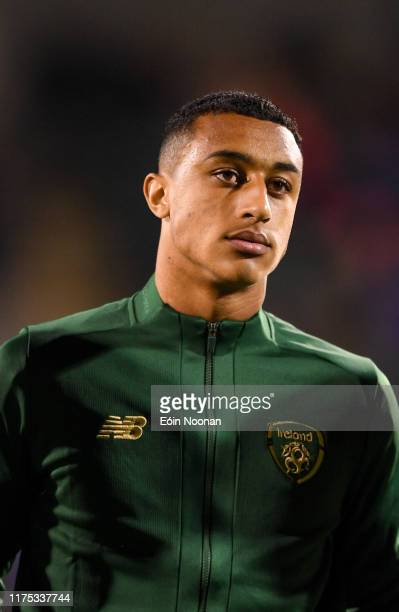 Dublin Ireland 10 October 2019 Adam Idah of Republic of Ireland prior to the UEFA European U21 Championship Qualifier Group 1 match between Republic...
