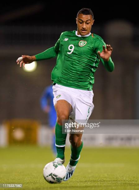 Dublin Ireland 10 October 2019 Adam Idah of Republic of Ireland during the UEFA European U21 Championship Qualifier Group 1 match between Republic of...