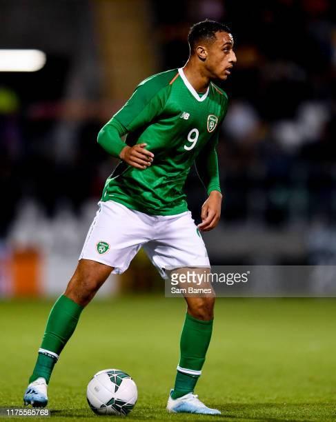 Dublin , Ireland - 10 October 2019; Adam Idah of Republic of Ireland during the UEFA European U21 Championship Qualifier Group 1 match between...