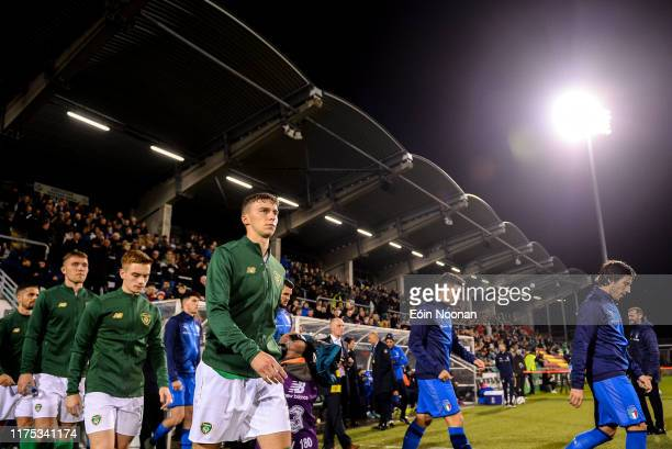 Dublin , Ireland - 10 October 2019; Conor Masterson of Republic of Ireland prior to the UEFA European U21 Championship Qualifier Group 1 match...