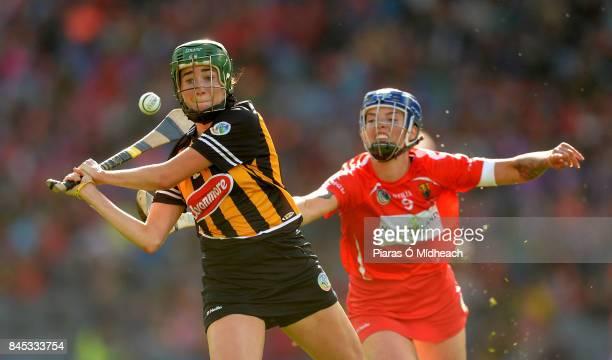 Dublin Ireland 10 September 2017 Denise Gaule of Kilkenny in action against Ashling Thompson of Cork during the Liberty Insurance AllIreland Senior...