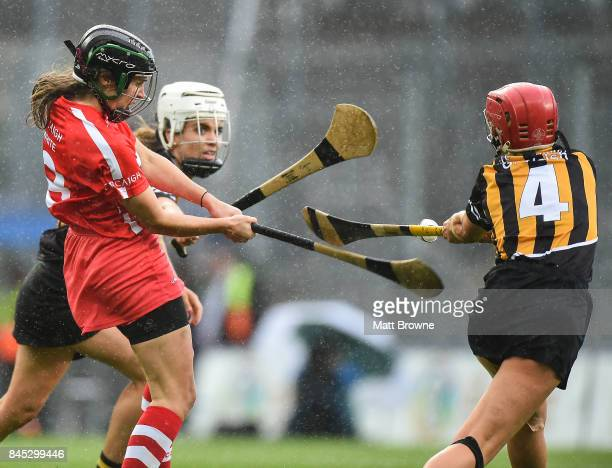 Dublin Ireland 10 September 2017 Julia White of Cork scores the winning point in injury time during the Liberty Insurance AllIreland Senior Camogie...