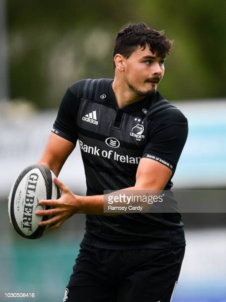 Dublin Ireland 10 September 2018 Max Deegan during Leinster Rugby squad training at Energia Park in Donnybrook Dublin