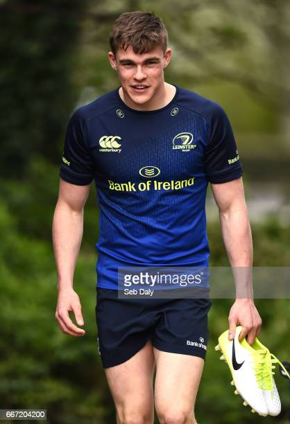 Dublin Ireland 11 April 2017 Garry Ringrose of Leinster arrives prior to squad training at Rosemount in Belfield UCD Dublin