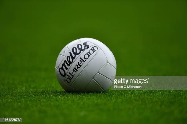 Dublin Ireland 11 August 2019 A general view of a gaelic football during the GAA Football AllIreland Senior Championship SemiFinal match between...