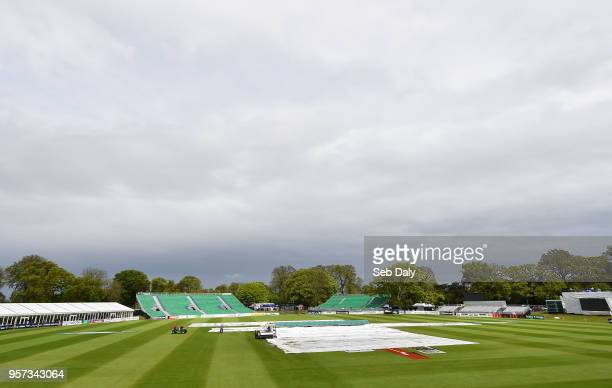 Dublin Ireland 11 May 2018 A general view of the ground following the decision to abandon play on day one of the International Cricket Test match...