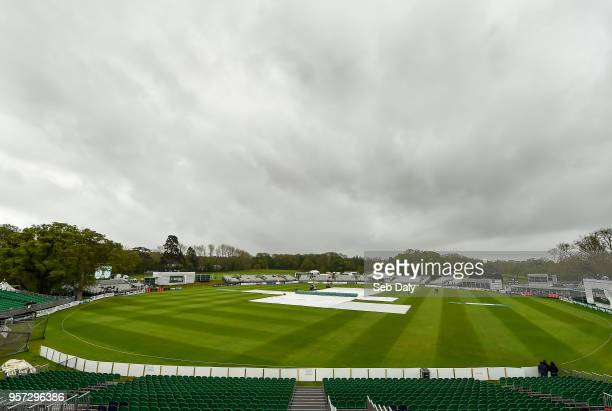 Dublin Ireland 11 May 2018 A general view of the ground on day one of the International Cricket Test match between Ireland and Pakistan at Malahide...