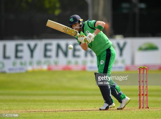 Dublin Ireland 11 May 2019 Andrew Balbirnie of Ireland plays a shot during the One Day International match between Ireland and West Indies at...