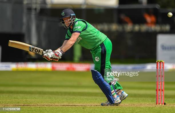 Dublin Ireland 11 May 2019 Kevin OBrien of Ireland plays a shot during the One Day International match between Ireland and West Indies at Malahide...