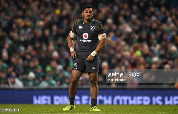 Dublin Ireland 11 November 2017 Bundee Aki of Ireland during the Guinness Series International match between Ireland and South Africa at the Aviva...