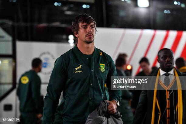 Dublin Ireland 11 November 2017 Eben Etzebeth of South Africa arrives prior to the Guinness Series International match between Ireland and South...