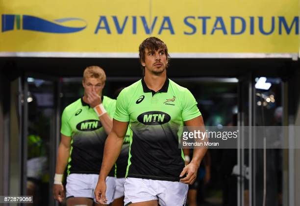 Dublin Ireland 11 November 2017 Eben Etzebeth of South Africa prior to the Guinness Series International match between Ireland and South Africa at...