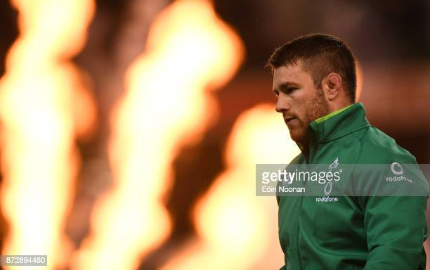 Dublin Ireland 11 November 2017 Sean O'Brien of Ireland prior to the Guinness Series International match between Ireland and South Africa at the...